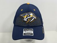Nashville Predators NHL Fanatics Pro Flex L/XL Fitted Cap Blue, NEW!