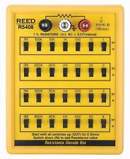REED R5408 Resistance Decade Box with 7 Decade Ranges of Resistance