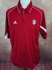 Adidas Team Performance Climacool IU Indiana University Red Polo Shirt Men's L