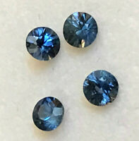 Sapphires Best Rich Blue;  Natural, Genuine, Out of the ground 3.6mm - Round