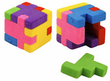24 Puzzle Cube Erasers - Pinata Toy Loot/Party Bag Fillers Wedding/Kids