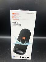 JBL By Harman Flip 4 Waterproof Portable Bluetooth Speaker System New Black