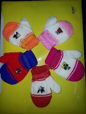 3 pair Wollen cotton Baby Hand Gloves 0 to 2 years mittens kids winter gloves