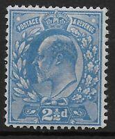 SG.284. 2&1/2d.Dull Blue. P.15X14.  Fine MM.  Ref 0142