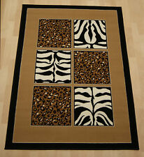 Cheap Budget African Safari beige Zebra/Leopard Extra Rug  240x330 cm