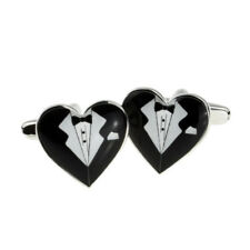 Tux Design Heart Shaped Cufflinks in a Cufflink Box - X2BOCH026
