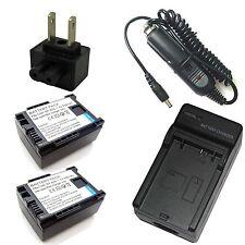 Charger + 2x Battery for Canon FS10 FS11 FS20 FS21 FS22 FS30 FS31 FS40 FS100