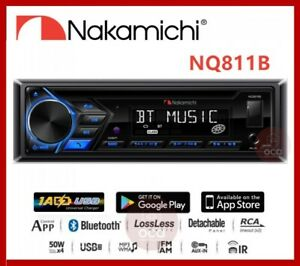 Nakamichi NQ811B Bluetooth CD USB AUX APPs Control AM/FM Car Stereo Receiver