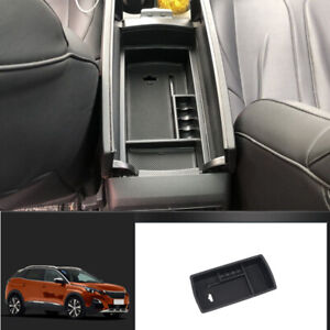 Center Armrest Storage Box Holder Organizer Tray for Peugeot 3008 GT 2017-2020