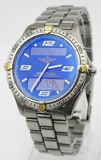 Breitling Aerospace Blue Dial F65362 Chronographe Titanium Quartz Men's Watch