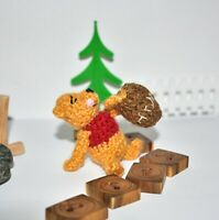 Miniature Ooak Bear Winnie The Pooh Artist Teddy Bear Dollhouse Toy Gift