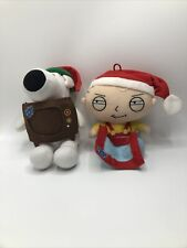 Family Guy Stewie And Brian Christmas Plush Dolls 2006