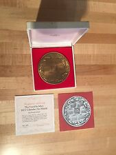 Franklin Mint 1975 Calendar / Art Medal by Ernest Lauser with Box & Coa