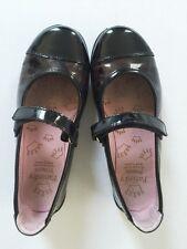 Pablosky Princess Black Animal Print Patent Leather Holiday Strap Shoe Youth 33