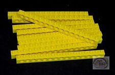 LEGO Technic - 10 x Tech Brick - 16L - Yellow - New - (NXT, EV3, Robot)