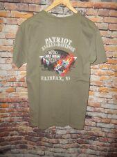 Harley Davidson  Men's T Tee Shirt Size Medium M Army Olive Green Fairfax VA