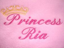 PERSONALISED BABY BLANKET, PRINCESS DESIGN