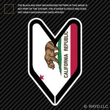 California Driver Badge Sticker Die Cut Decal wakaba leaf soshinoya Cali