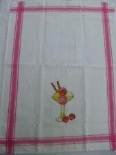 Geschirrhandtuch Motiv-Eisbecher  weiß/ pink von Rico Design 77569.56.62