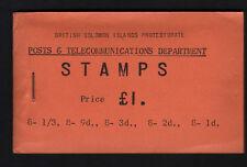 BRITISH SOLOMON IS.1960 £1 COMPLETE BOOKLET SB4.