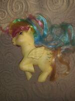 My Little Pony SKYDANCER Yellow Rainbow Pegasus Pink Eyes Vintage G1 BE70 1983