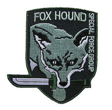 Metal Gear Fox Hound  - Special Forces Group Grün Uniform Patch  Aufnäher  neu