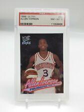 Allen iverson 1996-97 Fleer Ultra Rookie Card #82 PSA NM-MT 8