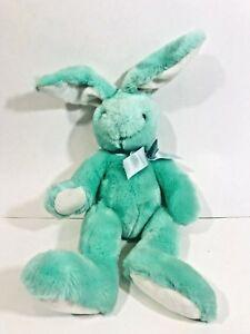 "Dakin Bunny Rabbit Stuffed Animal Plush Toy 19"" Blue Green Easter Spring"