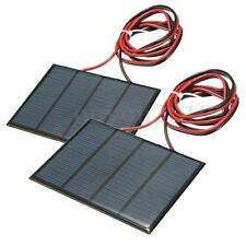 2pcs 1.5W 12V Solar Panel Small Cell Module Epoxy Charger w/ 1M Welding Wire DIY