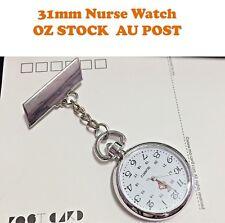 Vintage Silver Large Face Nurse Nursing Nurses Pendant Pocket Fob Brooch Watch