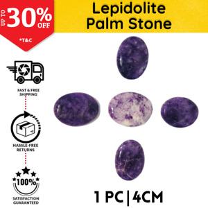 Lepidolite Palm Stone Thumb Worry Stone 4cm | Chakra Reiki Healing Therapy