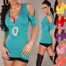 NEW WOMEN CLUBBING DRESS TOP SEXY LADIES SHORT SLEEVE PARTY SHIRT SIZE 6 8 10 12