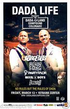 DADA LIFE 2015 1st Bank - Dada Land Colorado 11x17 Concert Flyer / Gig Poster