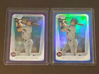 2 Card Lot Brandon Nimmo 2011 Bowman Chrome Refractor RC Blue + Purple Rookie