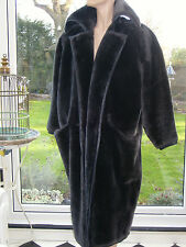 Gianni Versace DESIGNER 1980s faux fur coat /mink brown beaver colour 42 ITA