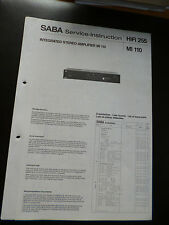 ORIGINAL SERVICE MANUAL Saba MT 110