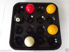 16 palle VASSOIO-blocchi Full Size Snooker, BILIARDO, POOL, Usa tabelle Set