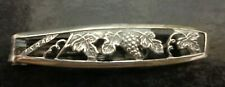 VINTAGE BOXED Style Tie Clip Pin Men's Sterling Silver Clasp from ISRAEL Bar 5cm