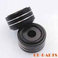 40x20mm Aluminum HIFI AMP Speaker Isolation Stand Turntable DAC Feet Pad Black*4