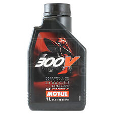 Motul 300V Factory Line 5W-40 4T Motorcycle Engine Oil Ester Synth 1 Litre 1L