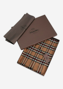 CHURCH'S By PRADA Virgin Wool Check Scarf   Made In Italy   Boxed   RRP €240