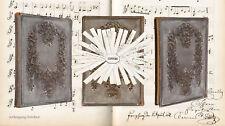 Stammbuch von Anna von Schab (?) Handschrift mit Noten 1861 ff.