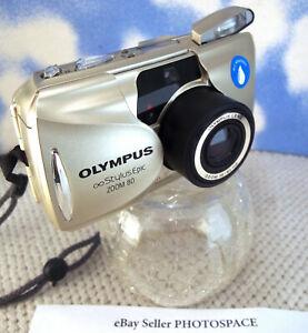 Olympus ∞ StylusEpic ZOOM 35mm Camera w/38-80mm Lens Flash Seals MINT Cond. (1J)