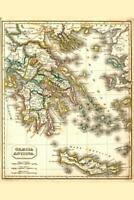 Ancient Greece Antique Style Map Mural Poster 36x54 inch