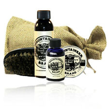 Mountaineer Brand® Beard Care Kit (WV Pine Tar) - Beard Wash, Oil, Balm, Brush