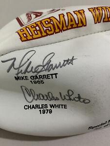USC Heisman Winners Signed Football By Simpson, Allen, Garrett & White
