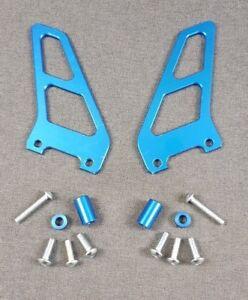 New Genuine Aprilia RSV 1000 Toe Guard, Pair Blue Ergal AP8140506