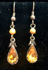YELLOW CRYSTAL DROP EARRINGS SKU112462P