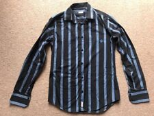 Henley's Shirt Striped Navy Long Sleeve Small Cotton Polyester
