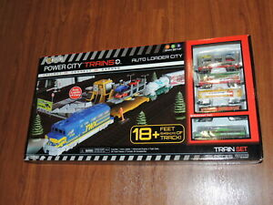 New - Auto Loader Power City Trains Set - 56 Pieces 18+ ft Track - 039897413891
